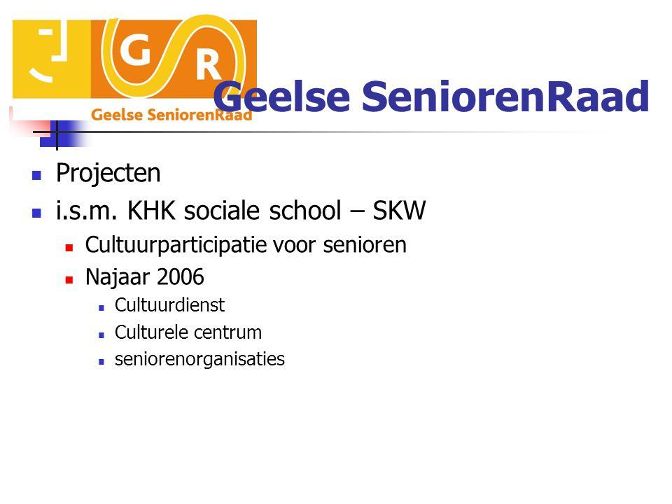 Geelse SeniorenRaad Projecten i.s.m.
