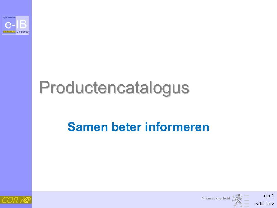 dia 1 Productencatalogus Samen beter informeren