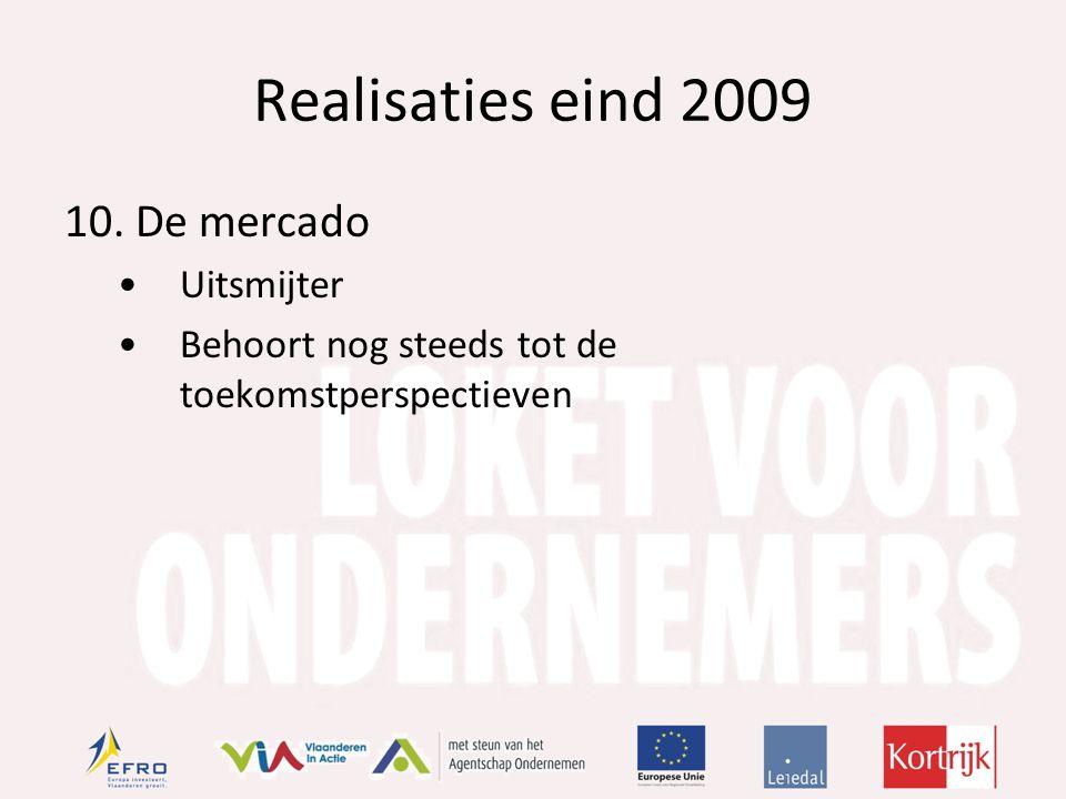 Realisaties eind 2009 10.De mercado Uitsmijter Behoort nog steeds tot de toekomstperspectieven
