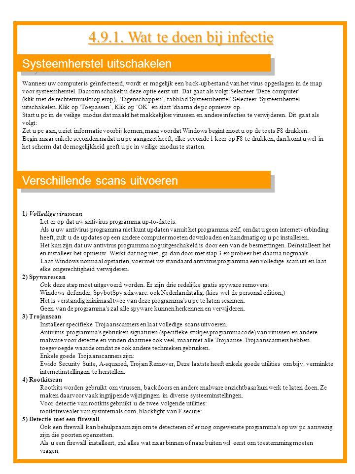 Systeemherstel uitschakelen 1) Volledige virusscan Let er op dat uw antivirus programma up-to-date is. Als u uw antivirus programma niet kunt updaten