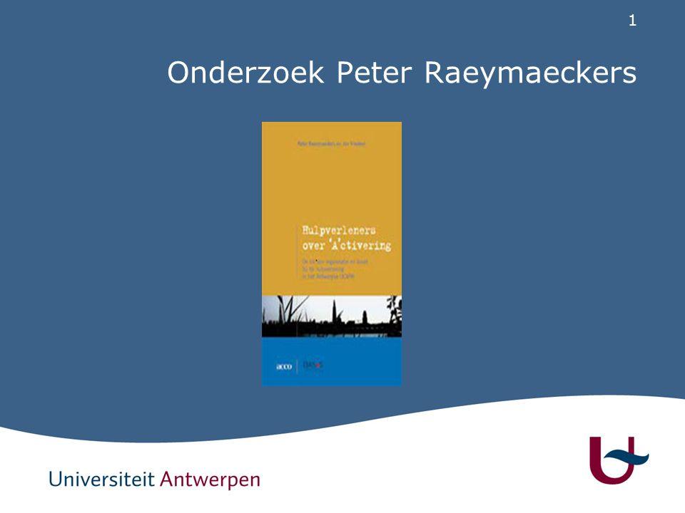 1 Onderzoek Peter Raeymaeckers