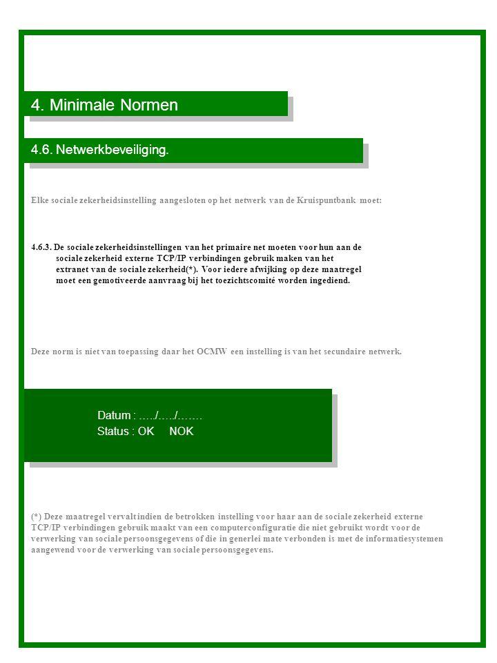 4.Minimale Normen 4.6. Netwerkbeveiliging.