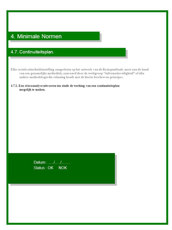 4.Minimale Normen 4.7. Continuiteitsplan.
