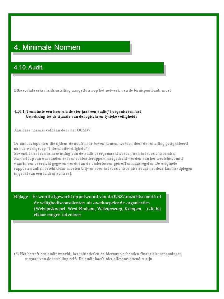 4.Minimale Normen 4.10. Audit.