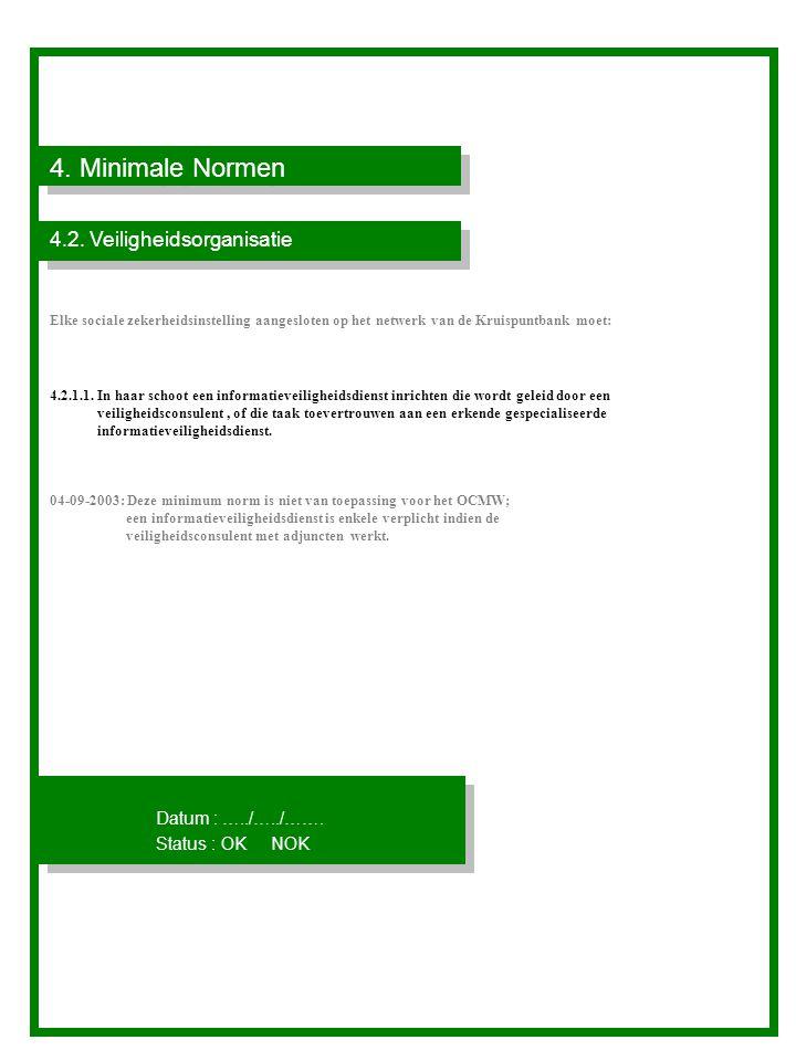 4.Minimale Normen Identificatiegegevens van de veiligheidsconsulent 4.2.