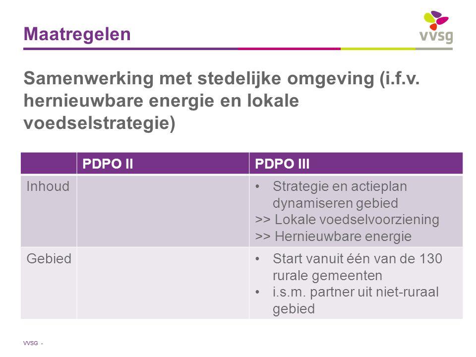 VVSG - Maatregelen Samenwerking met stedelijke omgeving (i.f.v.
