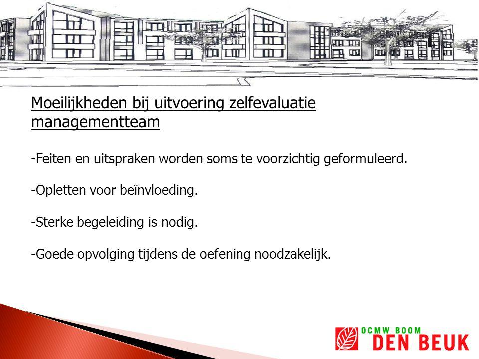Moeilijkheden bij uitvoering zelfevaluatie managementteam -Feiten en uitspraken worden soms te voorzichtig geformuleerd.