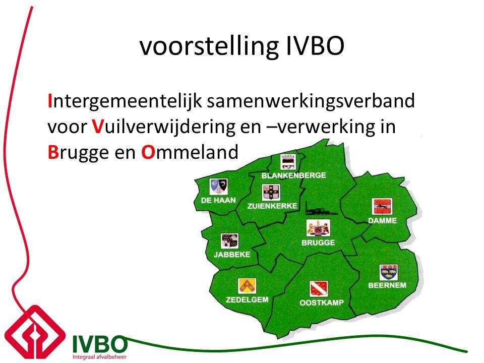 voorstelling IVBO Intergemeentelijk samenwerkingsverband voor Vuilverwijdering en –verwerking in Brugge en Ommeland