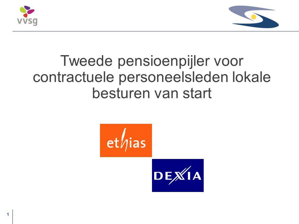 1 Tweede pensioenpijler voor contractuele personeelsleden lokale besturen van start