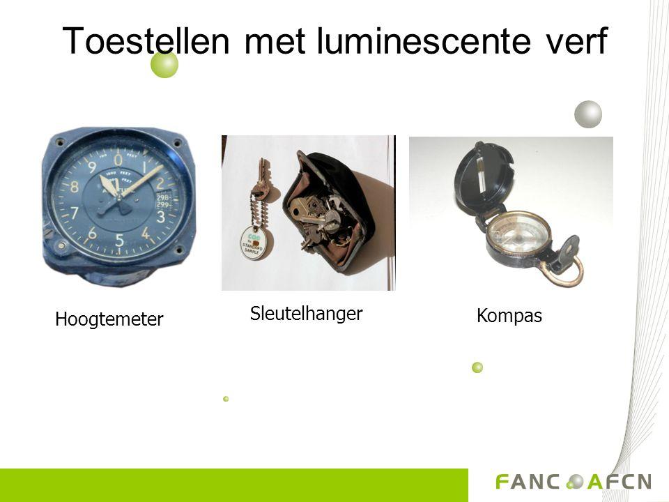 Toestellen met luminescente verf Hoogtemeter Sleutelhanger Kompas