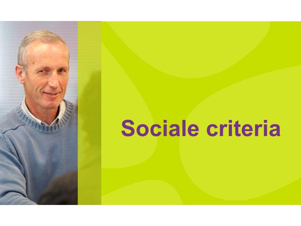 Sociale criteria
