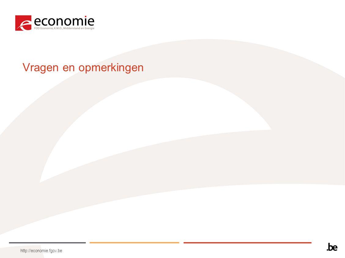 http://economie.fgov.be Vragen en opmerkingen