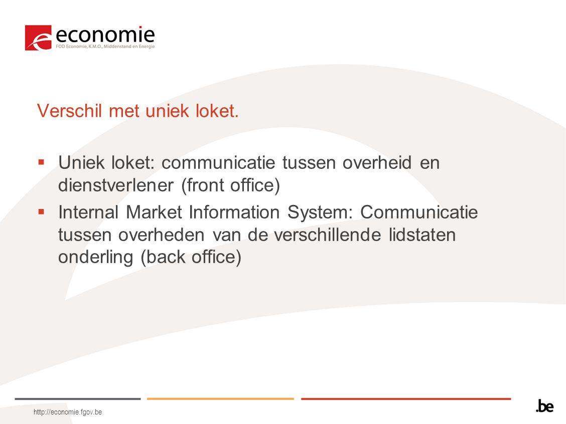 http://economie.fgov.be Verschil met uniek loket.