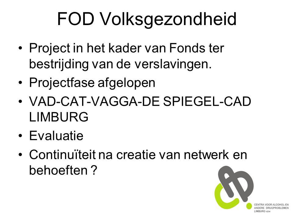 FOD Volksgezondheid Project in het kader van Fonds ter bestrijding van de verslavingen.