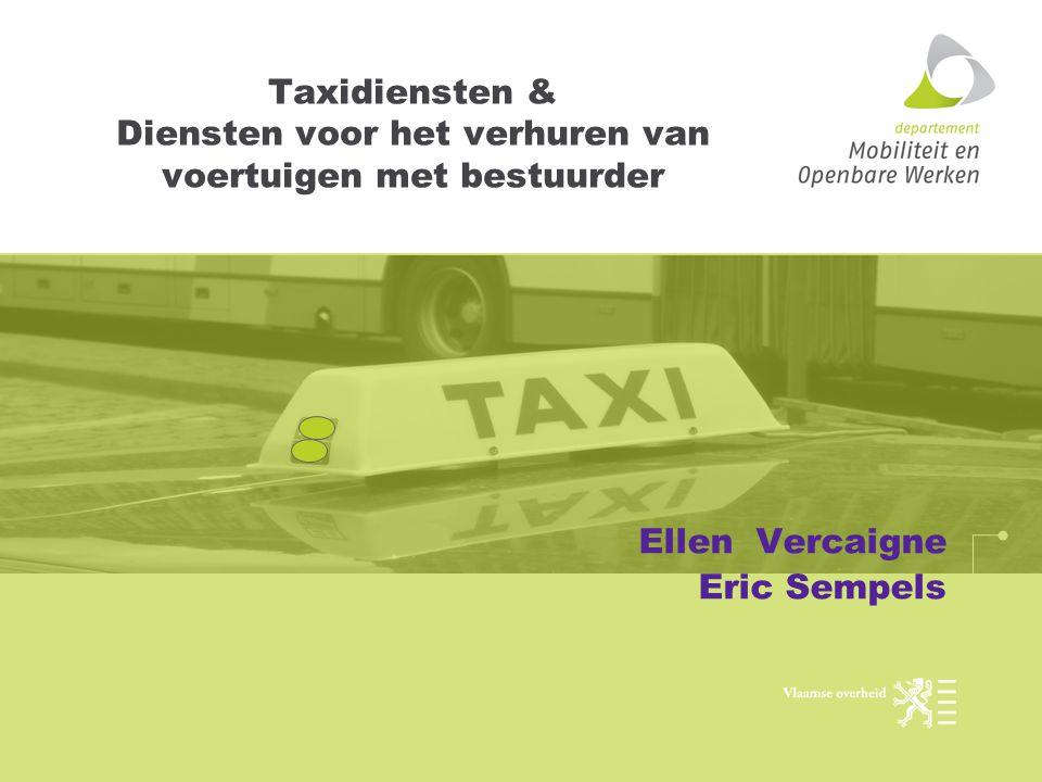 Taxidiensten & Diensten voor het verhuren van voertuigen met bestuurder Ellen Vercaigne Eric Sempels