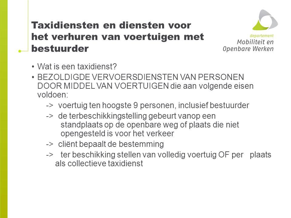 Collectieve taxirit Alleen als de taxameter dit kan uitvoeren.