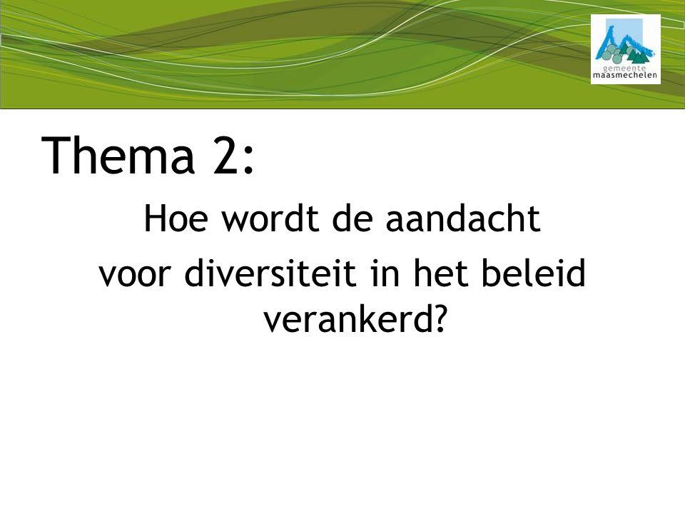 Thema 2: Hoe wordt de aandacht voor diversiteit in het beleid verankerd
