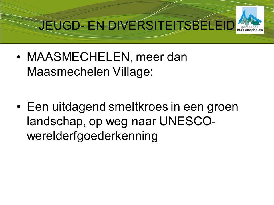 JEUGD- EN DIVERSITEITSBELEID MAASMECHELEN, meer dan Maasmechelen Village: Een uitdagend smeltkroes in een groen landschap, op weg naar UNESCO- werelderfgoederkenning