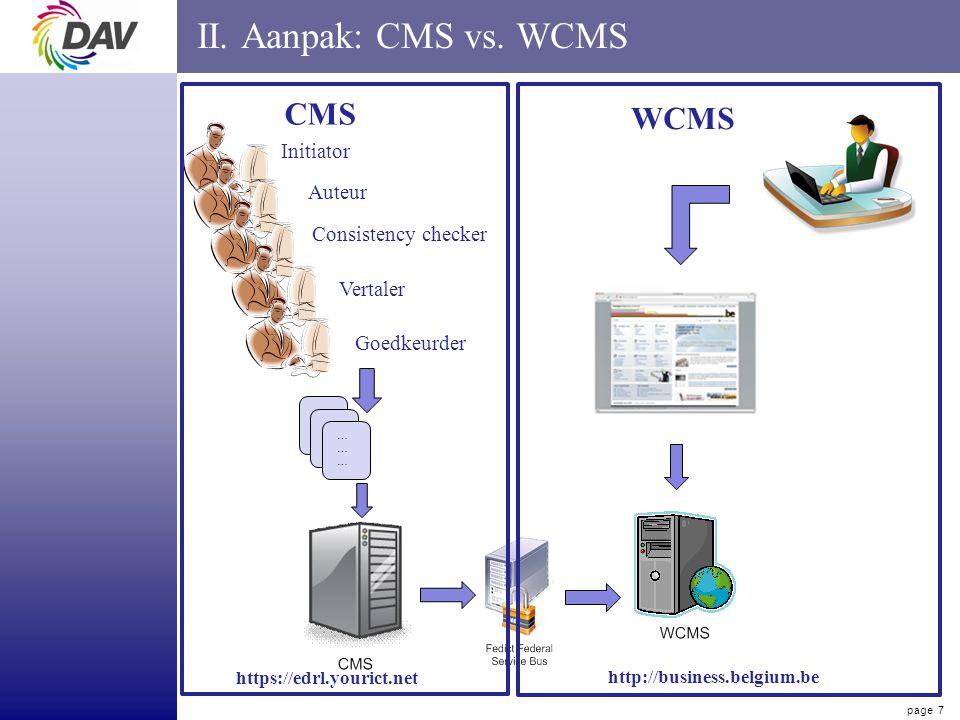 page 7 II. Aanpak: CMS vs.