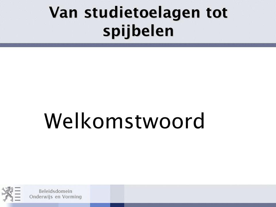 Beleidsdomein Onderwijs en Vorming Maximumfacturen basisonderwijs Layout Edwin Kindermans Van studietoelagen tot spijbelen