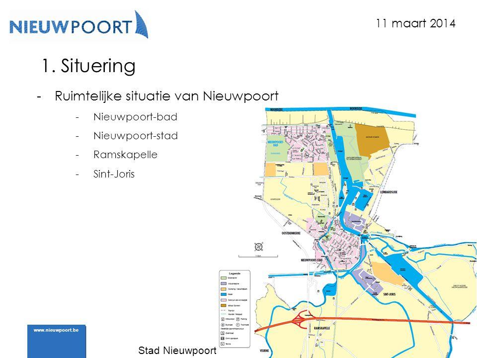 Stad Nieuwpoort | Marktplein 7 | 8620 Nieuwpoort www.nieuwpoort.be 1. Situering -Ruimtelijke situatie van Nieuwpoort -Nieuwpoort-bad -Nieuwpoort-stad
