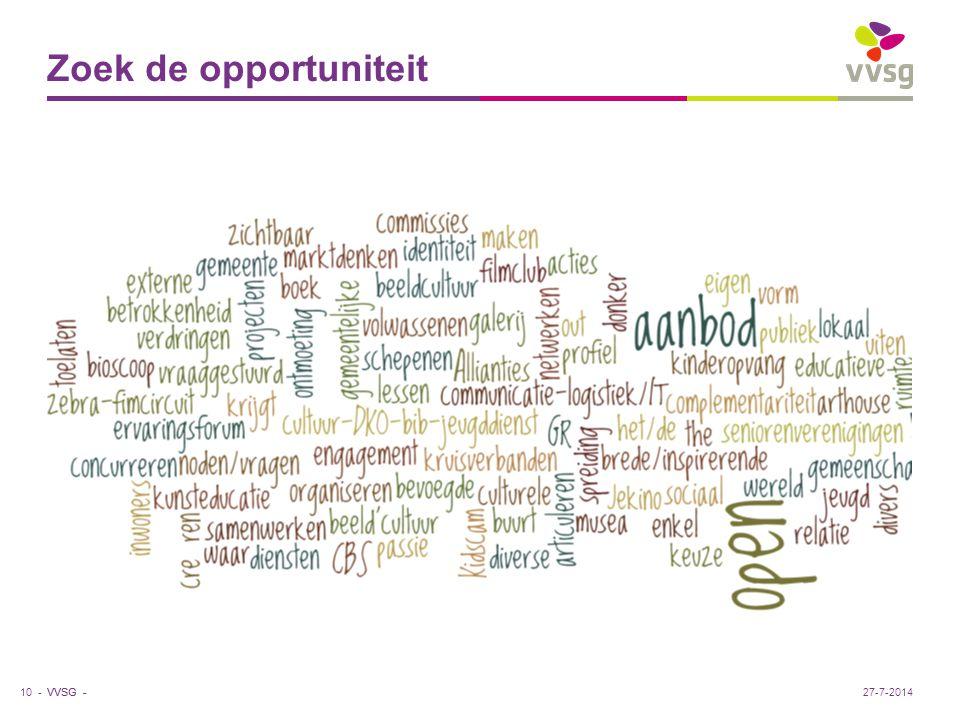 VVSG - Zoek de opportuniteit 10 -27-7-2014