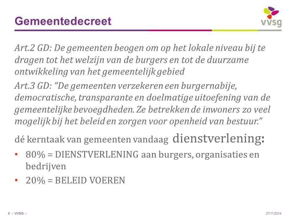 VVSG - De horizon in lokaal beleid 6 -27-7-2014