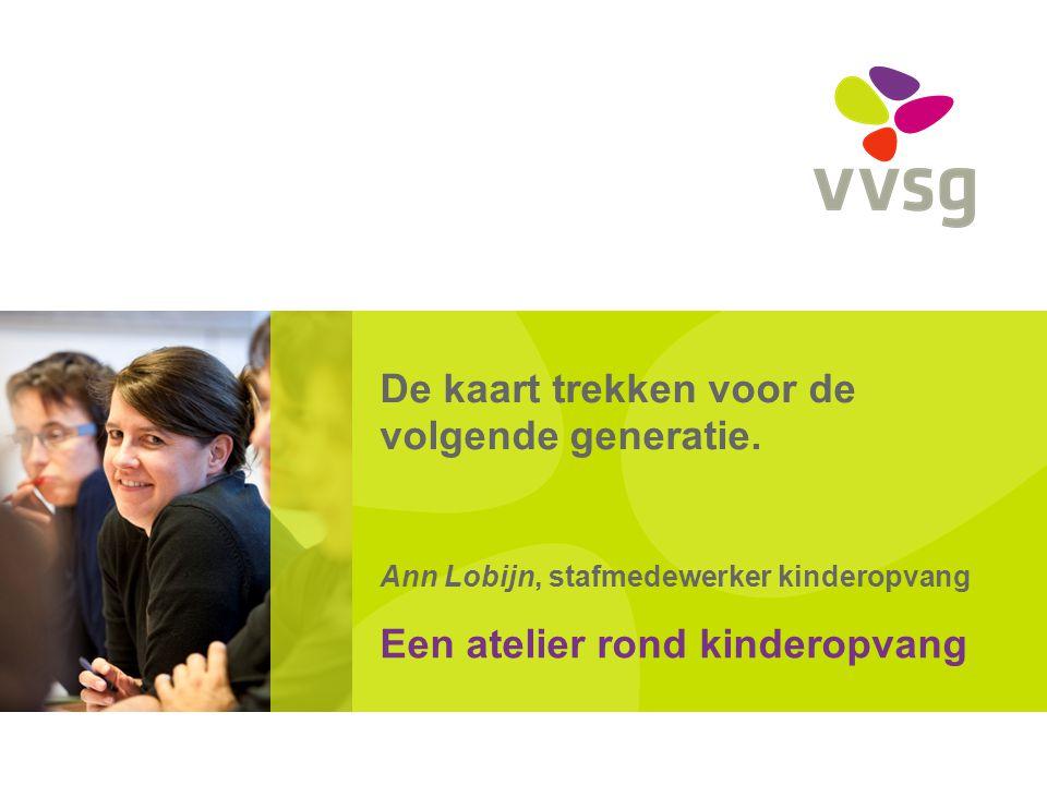 VVSG - Kinderopvang van kleuters en schoolgaande kinderen Vlaamse beleidsprioriteiten en Vlaams beleid (omzendbrief Minister Vandeurzen met Vlaamse beleidsdoelstellingen bij de uitvoering van het decreet betreffende het lokaal sociaal beleid voor de periode 2014-2019) -Lokale netwerken opzetten waarbinnen verschillende partners samenwerken om aan schoolgaande kinderen een kwaliteitsvol opvang- en activiteitenaanbod aan te bieden -Overleg stimuleren om aanbod op elkaar af te stemmen (Lokaal overleg kinderopvang) -Uitbreiding kinderopvang: beleidsprioriteiten formuleren (geldt als advies voor besluitvorming door Kind en Gezin); Pas aan bij: Invoegen / Koptekst en Voettekst22 -27-7-2014