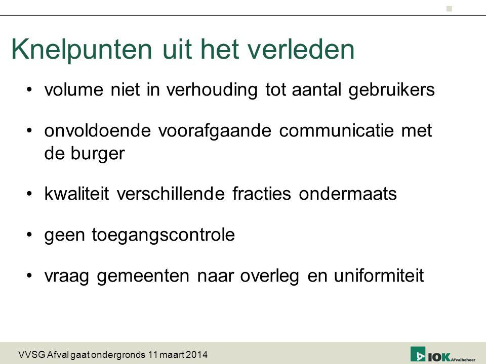 vragenronde VVSG Afval gaat ondergronds 11 maart 2014