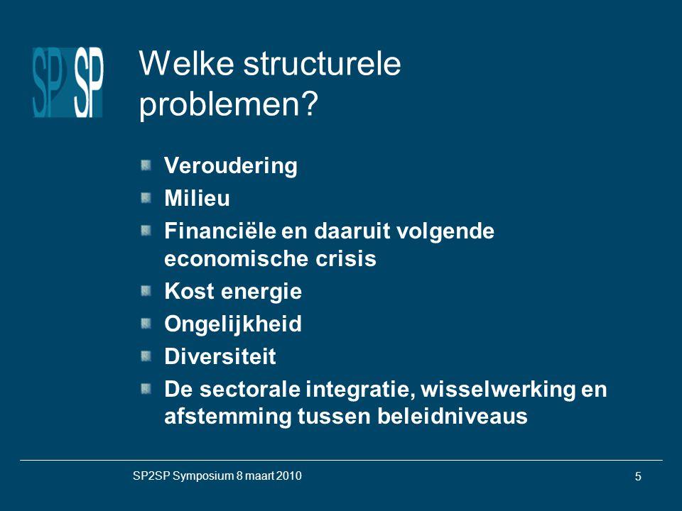 SP2SP Symposium 8 maart 2010 5 Welke structurele problemen.