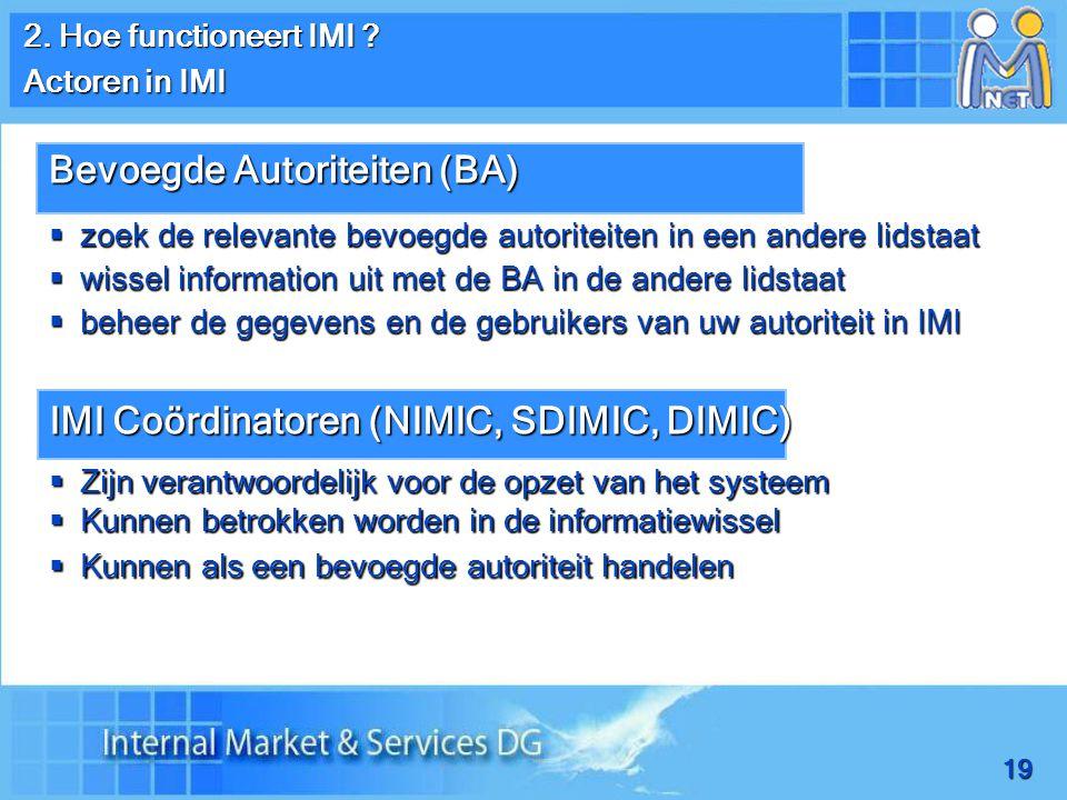 19 2. Hoe functioneert IMI .