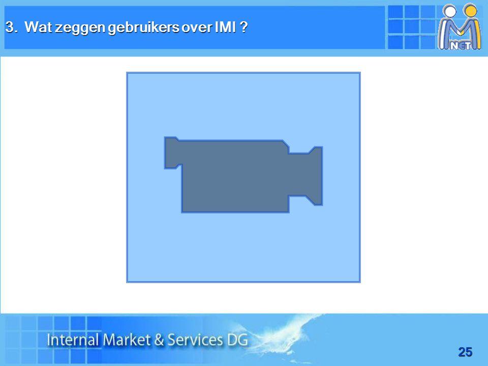 25 3.Wat zeggen gebruikers over IMI