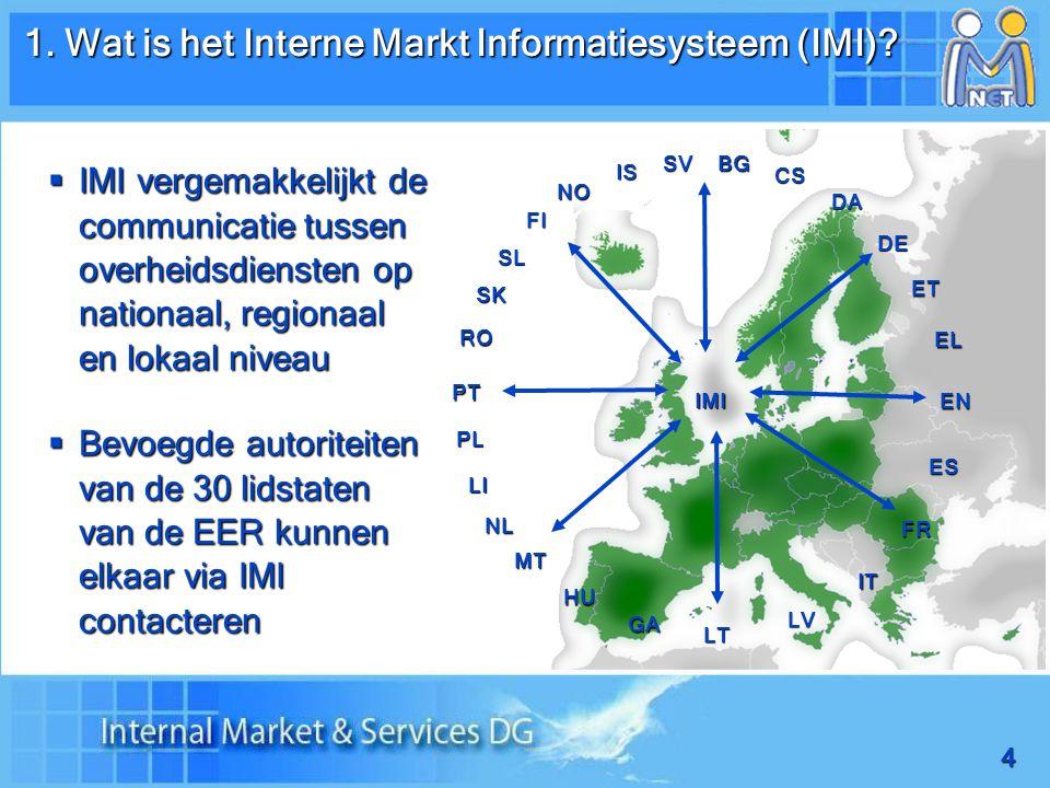 15 2. Identifying partners in IMI