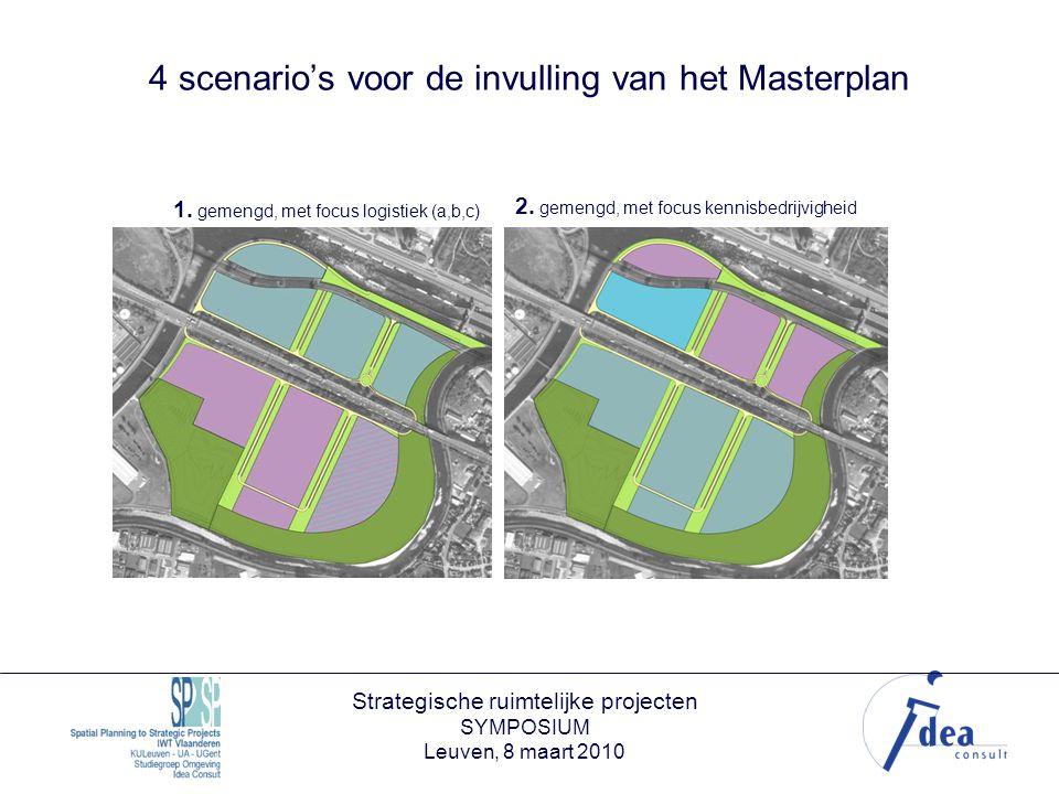 Strategische ruimtelijke projecten SYMPOSIUM Leuven, 8 maart 2010 4 scenario's voor de invulling van het Masterplan 1.