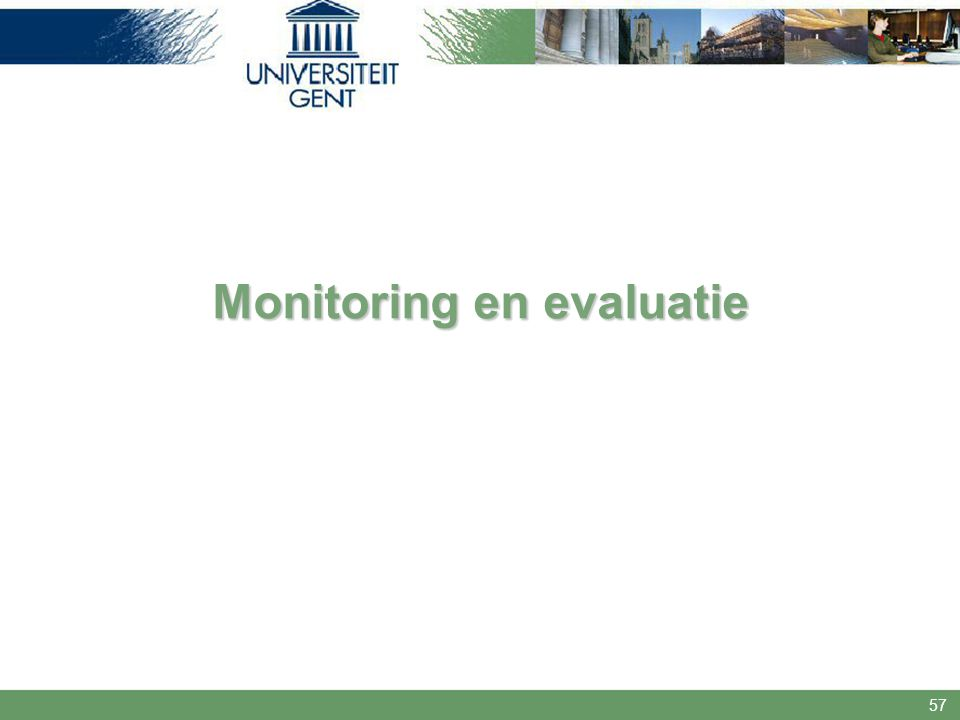 57 Monitoring en evaluatie
