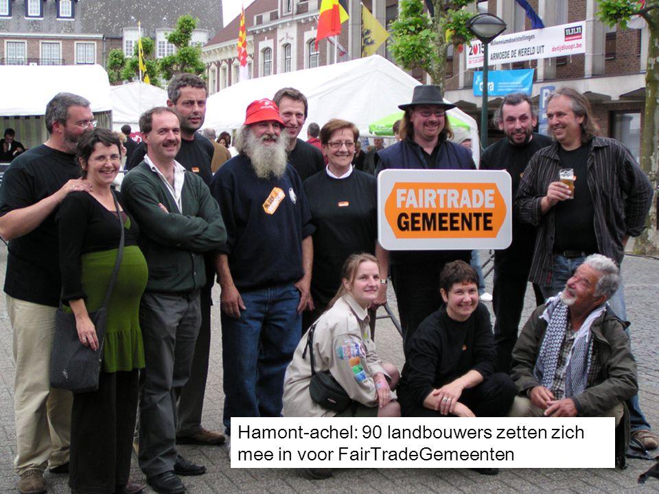 27 Hamont-achel: 90 landbouwers zetten zich mee in voor FairTradeGemeenten