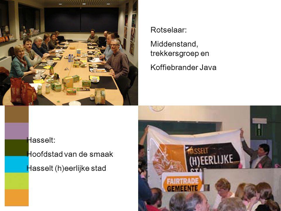 28 Rotselaar: Middenstand, trekkersgroep en Koffiebrander Java Hasselt: Hoofdstad van de smaak Hasselt (h)eerlijke stad