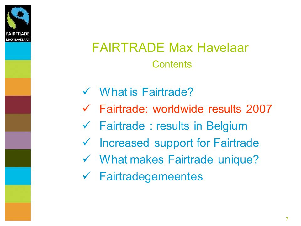 88 FAIRTRADE Max Havelaar Global retail turnover Fairtrade products