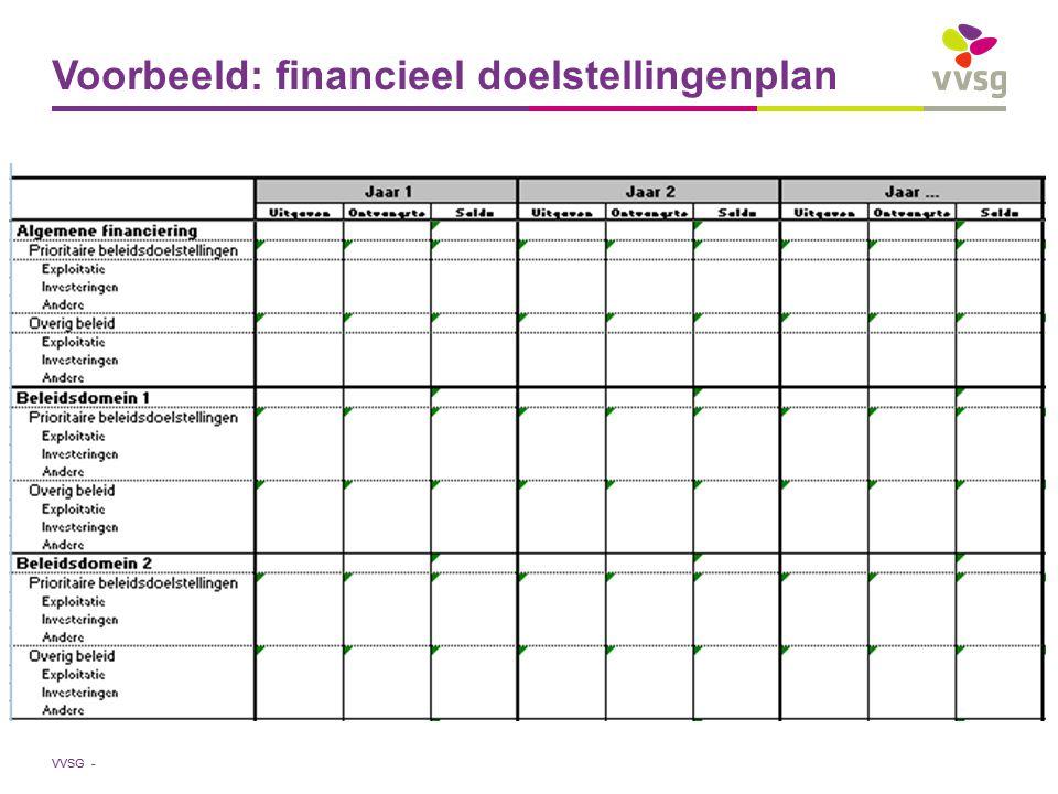 VVSG - Voorbeeld: financieel doelstellingenplan