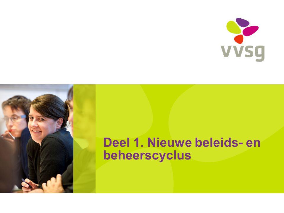 VVSG - Deel 1.Nieuwe beleids- en beheerscyclus 1.1.