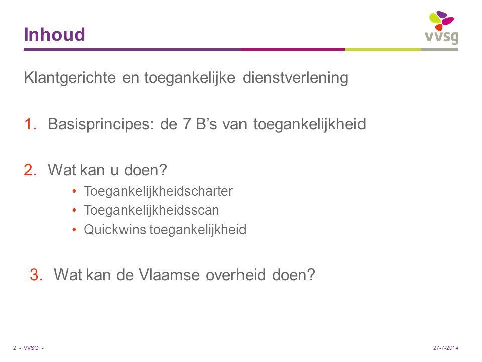 VVSG - Wat kan de Vlaamse overheid doen.