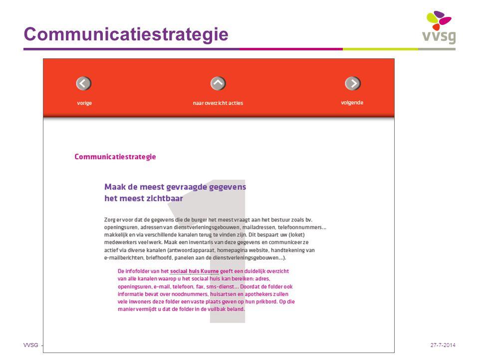 VVSG - Communicatiestrategie Pas aan bij: Invoegen / Koptekst en Voettekst27-7-2014