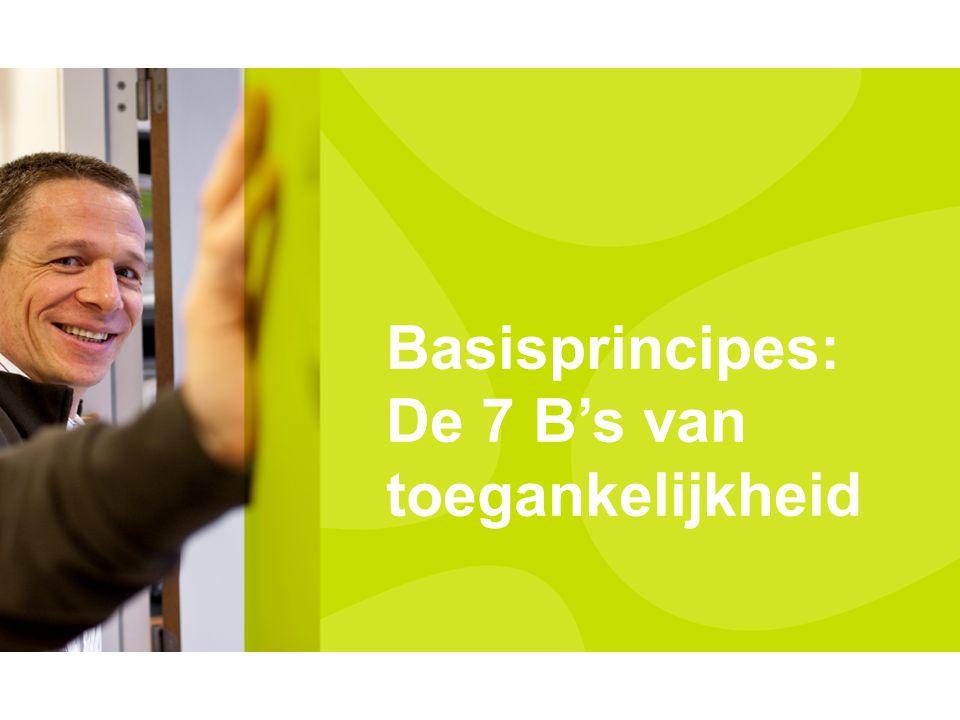 VVSG - Gemeente en OCMW Gebaseerd op 7 B's 62 besturen ondertekenen Communiceer erover naar burger en personeel Niet enkel woorden maar ook daden Toegankelijkheidscharter Pas aan bij: Invoegen / Koptekst en Voettekst14 -27-7-2014