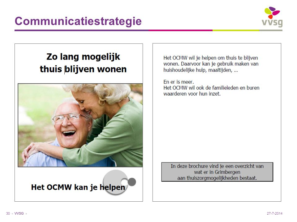 VVSG - Communicatiestrategie 30 -27-7-2014