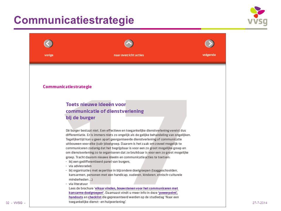 Communicatiestrategie 32 -27-7-2014