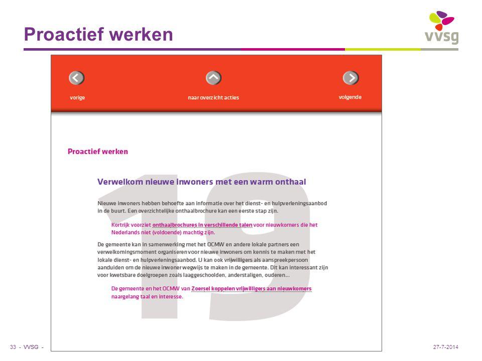 VVSG - Proactief werken 33 -27-7-2014