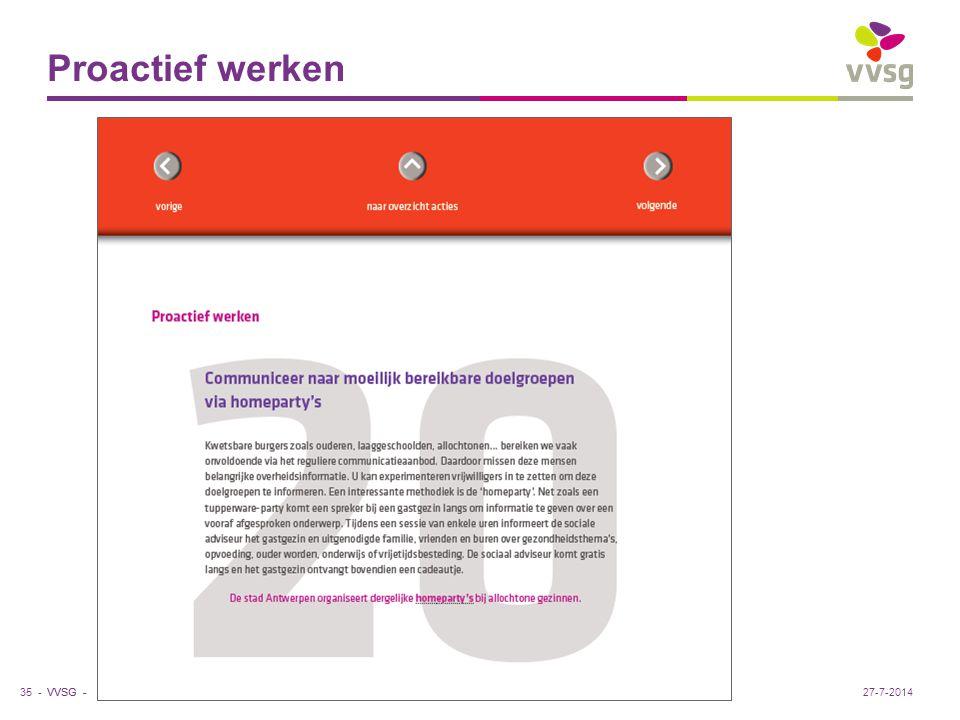 VVSG - Proactief werken 35 -27-7-2014