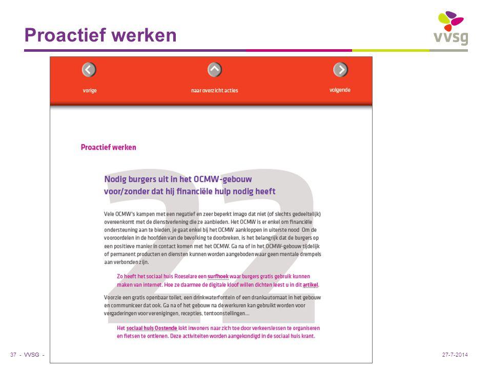 VVSG - Proactief werken 37 -27-7-2014