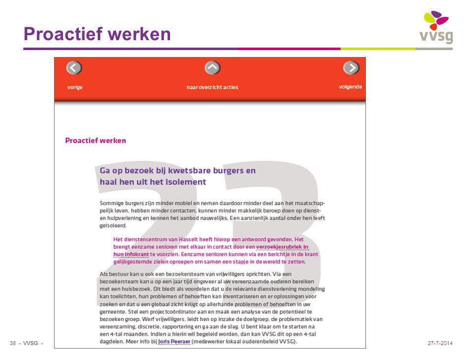 VVSG - Proactief werken 38 -27-7-2014