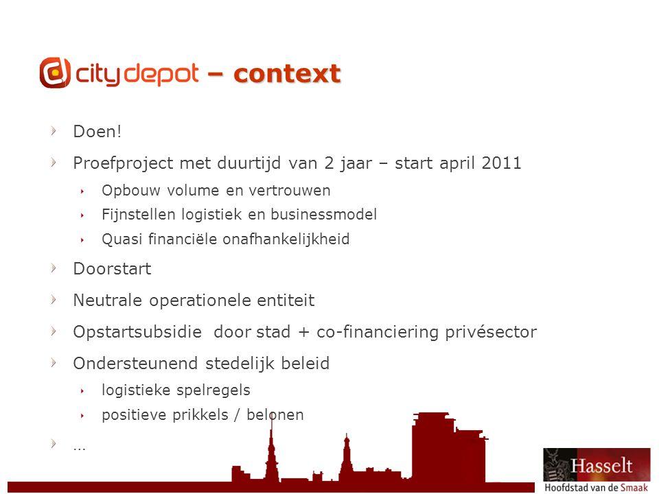 © 2011 Stad Hasselt CityDepot – context Doen.
